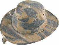 New HENSCHEL Camouflage BUCKET HAT Medium M 100% Cotton Outdoor Fishing Hiking