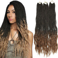 """18"""" Senegalese Twist Braids Loose Ended Synthetic Dreads Crochet Hair Extensions"""