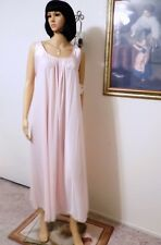 50cef385c8 LUCIE ANN VTG NWT LT PINK Nightgown w  Pink Satin Banded Sleeve size P  petite