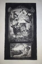 PAUL RENOUARD GRANDE Gravure EAU FORTE ORIGINALE FIACRE AUX AMOURS BUHOT 1900