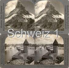 18 STEREOFOTOS SCHWEIZ SCHWITZERLAND SWISS Serie 1