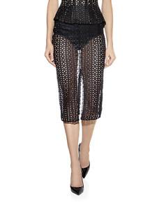 Agent Provocateur high waisted pencil skirt & briefs L semi sheer black lace AP4