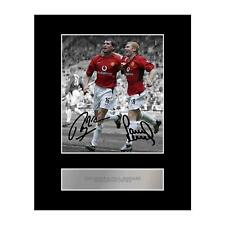 Roy Keane and Paul Scholes Signed Mounted Photo Display Manchester United FC