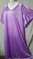 "Comfort Choice Long Purple w/ Purple Nightgown Plus 1X 56"" BUST"
