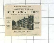 1936 South Grove House, Highgate Village, Rentals £145 P.a.