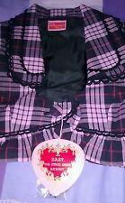BTSSB Pink/Black plaid JACKET/Bolero - UK Size S 8 10 Gothic Punk Lolita classic