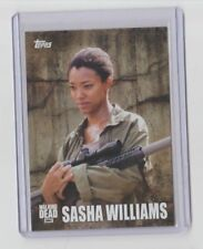The Walking Dead Season 5 2016 Characters Trading Card #C-10 Sasha Williams