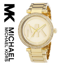 New Authentic Michael Kors Parker MK5784 Champagne Dial Gold-tone Ladies Watch