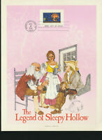 Legend of Sleepy Hollow 1974 HE HARRIS First Day Souvenir Page Halloween