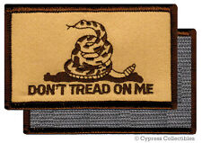 DONT TREAD ON ME GADSDEN FLAG PATCH AMERICAN CAMO TAN w/ VELCRO® Brand Fastener