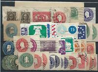 FRANCOBOLLI 1890/1971 USA/STATI UNITI LOTTO RITAGLI DI INTERI POSTALI D/6058