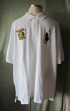 Mens Ralph Lauren White Big Pony SS Rugby Shirt Marine Supply Patch NWT $125 2XB