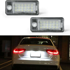 2x Fit For Audi A3 A4 A6 A8 2004-2012 Xenon LED License Number Plate Light Lamp