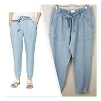 [ WITCHERY ] Womens Soft Cargo Chambray Pants | Size AU 14 or US 10