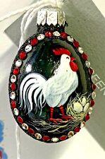 Patricia Breen Ixworth Mini Egg Black Red Chicken Eggs Glitter Jewels 2019 #3910