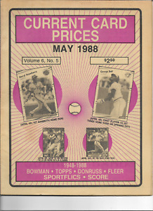 May 1988 Current Card Prices - Price Guide - Great Shape - Mantle RC $6500