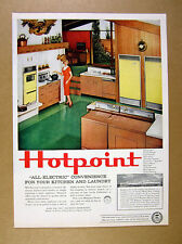 1959 mid-century house kitchen laundry photo Hotpoint Appliances print Ad