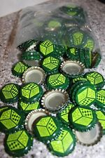 100 JACKS ABBY BREWERY UNCRIMPED BEER BOTTLE CAPS CROWNS LIME FOREST GREEN