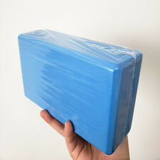1pc Blue Yoga Block Eva Foam Brick Stretching Aid Gym Pilates Exercise Fitness