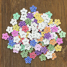 100X Gorgeous Wooden Buttons DIY Sewing Scrapbooking Flower Dots Mixed 20 X 2mm