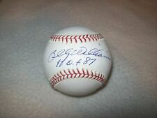 BILLY WILLIAMS HOF 87 INSCRIBED AUTOGRAPHED MLB SELIG BASEBALL CHICAGO CUBS