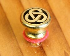 Strap Button, Gold, Oversize, with engraved Celtic Tri-Ring