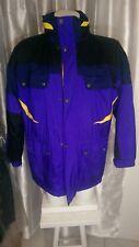 Mint vtg 90's Nordica Ski Jacket Parka Nylon sz L Purple Black