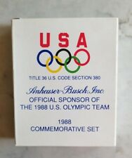 Budweiser Anheuser Busch 1988 Commemorative US Olympic Pin Set