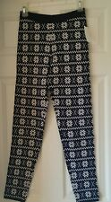 Junior Sweater Legging Navy Snowflake Large L Winter Warm