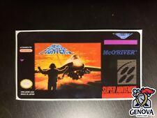 Aero Fighters Snes Replacement Game Label Sticker Precut