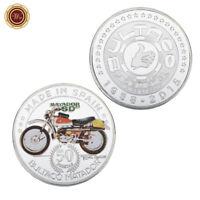 WR 1958 Spain 50 Pesetas Silver Coin Bultaco Motor Matador Sd Motorcycle Gifts