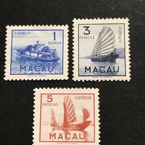 Macau 1951 Série Bateaux Ships N° 353/355 Cote ++++