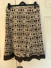 Wallis Skirt - brown with symetrical pattern embellished with sequins - size 18