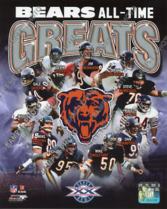 Chicago Bears All Time Greats Composite Official Licensed 8x10 Team Photo