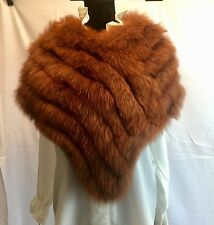 Gucci Fox Cape Fur w/GG Logo Lining Brown/Burnt Red Color - Exquisite & Rare