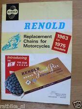 RENOLD CHAINS 1963 TO 1975 MODELS MOTORCYCLE,MOPEDS,KAWA,SANGLAS,SWM,MV PC43