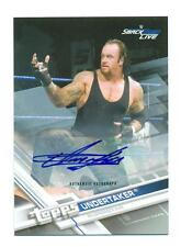 2017 TOPPS WWE UNDERTAKER SILVER AUTO # /25 Autograph CARD