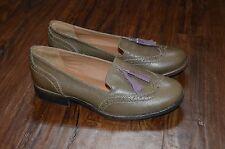 STEVE MADDEN 'Tassi' Women's Loafers Shoes Leather Olive w/ Tassel (Sz 7 M)