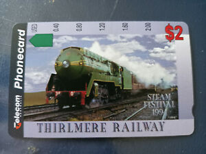 Mint $2 Thirlmere Railway Steam Festival 1994 Phonecard Prefix 648