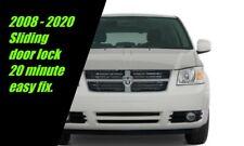 Easy Fix Sliding Door Lock Dodge Caravan Chrysler Town Country VW Routan 2008 +