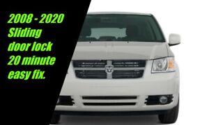 Easy Fix Sliding Door Lock Dodge Caravan Chrysler Town Country 2008 and up