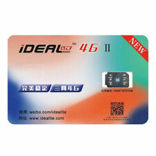 New iDeal II Unlock Turbo Sim Card For iPhone X 8 7 6 6S Plus 5/5S SE LTE 4G GPP