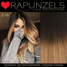 Neues AngebotBraun/Blond Ombre Weben Haar Weft Extensions Salon Professional Rapunzels Königreich