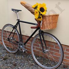 Classic Wicker Bicycle Basket Bike Cycle Shopping Vintage Travel Retro Style