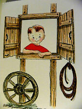 LASSO retired WOOD (U get photo #2)L@@K@ examples ART IMPRESSIONS RUBBER STAMPS