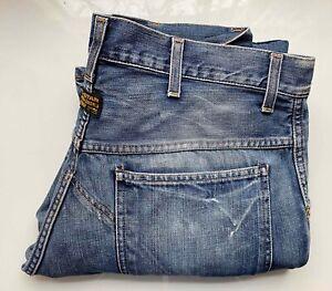 #Vintage# G-STAR Original Raw Denim Vintage Jeans Hose ELWOOD 5620 W32 L36, blau