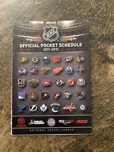 2011-12 NHL Pocket Schedule, VS