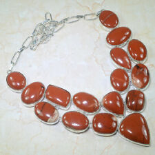 Giant Red Jasper Semi Precious Gemstone Rough Finish Necklace Handmade 149g