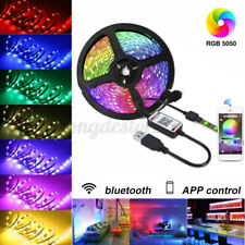 5050 RGB Dimmable LED Strip Lights bluetooth Control Table Under Cabinet Light