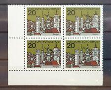 Bund 1964 ** Mi 426 Stuttgart im Eckrandviererblock 4er Ecke unten links (1024)